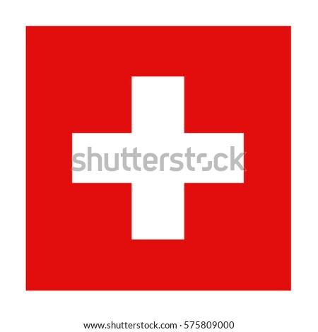 vector illustration of Swiss flag