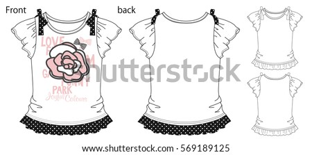vector illustration of t shirt