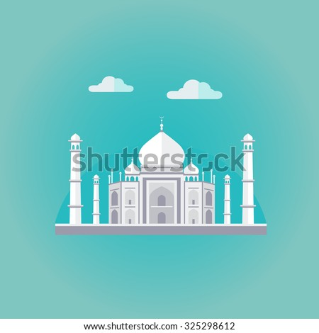 vector illustration of taj