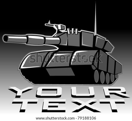 vector illustration of tank - stock vector