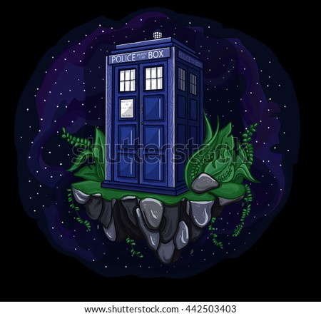 vector illustration of tardis