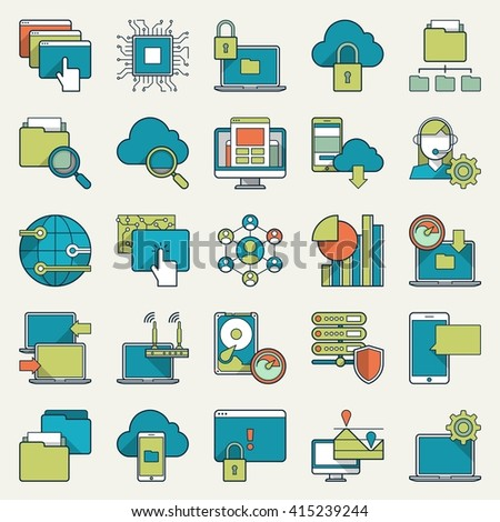 vector illustration of technology icons