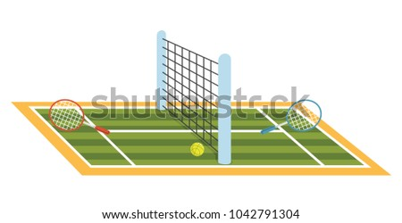 Vector Illustration Of Tennis Court