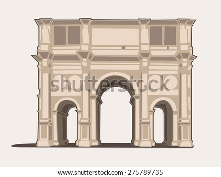 vector illustration of the arco