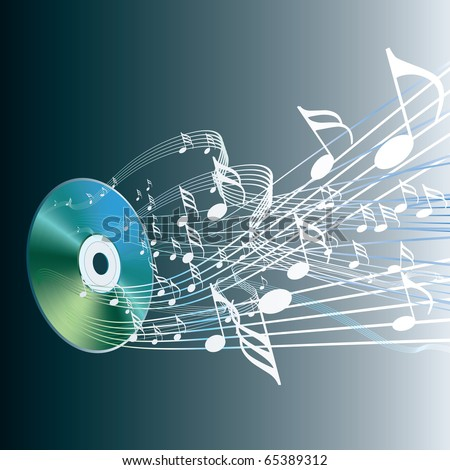 vector illustration of the audio compact disc - stock vector