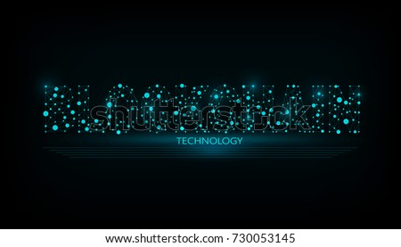 Vector illustration of the block chain word. Logo for blockchain technology.  Graphic design for decentralized transactions and cryptocurrencies network.