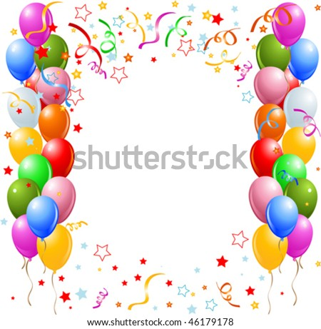 clip art balloons and confetti. alloons and confetti