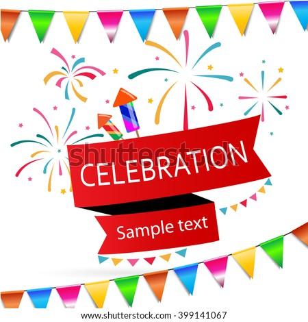 Vector illustration of the celebration design #399141067