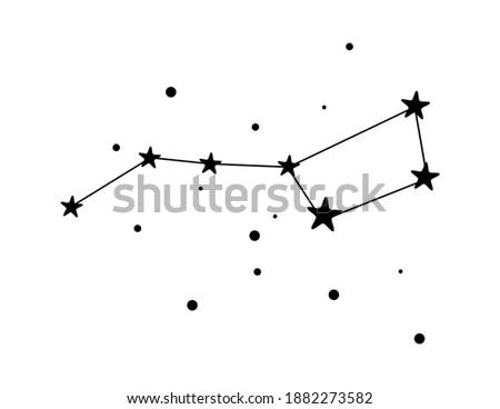 Vector illustration of the Constellation Ursa Major icon on white background Stock photo ©