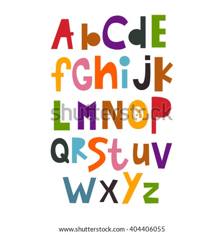 Vector Illustration of the English alphabet. abc. Lettering. Multicolored letters. Education of children. Poster.
