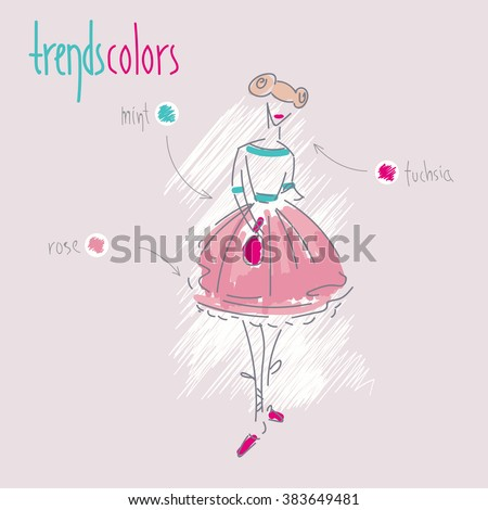 Vector illustration of the fashion trends of spring.