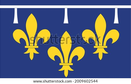 Vector Illustration Of The Flag Of Orléanais Region In France. Color Drawing Of A French Regional Flag Stock fotó ©