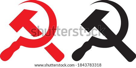 Vector illustration of the hammer and sickle Сток-фото ©