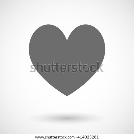 Vector illustration of  the heart poker playing card sign