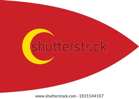 Vector Illustration of the Historical Timeline Middle Ages Ottoman Flag According to Hieronymus Bosch