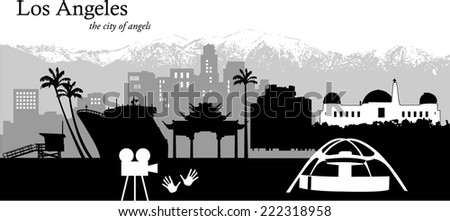 vector illustration of the los