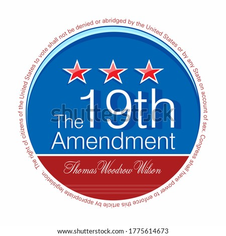Vector illustration of the Nineteenth Amendment to the United States Constitution  Photo stock ©