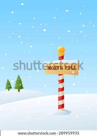 Vector illustration of the North Pole.