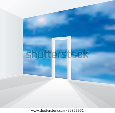 vector illustration of the room without wall
