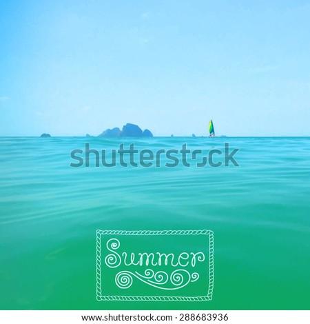 vector illustration of the sea
