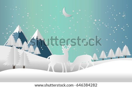vector illustration of the snow