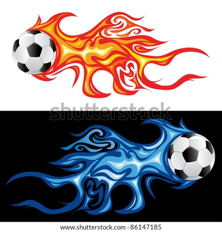 vector illustration of the soccer fireball