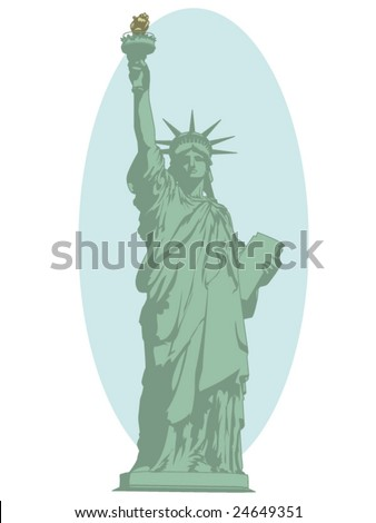 vector illustration of the statue of liberty