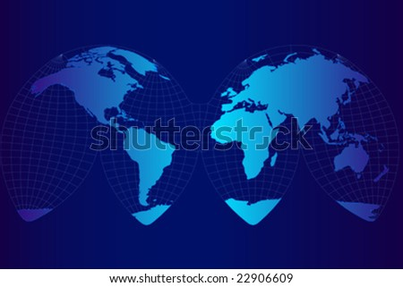 Vector illustration of the world atlas