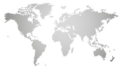 Vector illustration of the World Map composed by a Line Circles texture