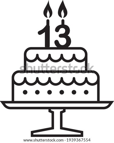 vector illustration of the 13
