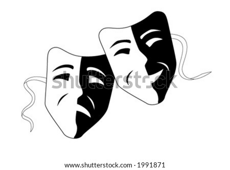 theatre mask clipart. of theater masks.