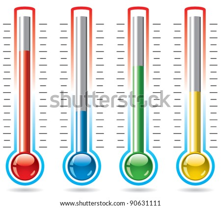 vector illustration of thermometers