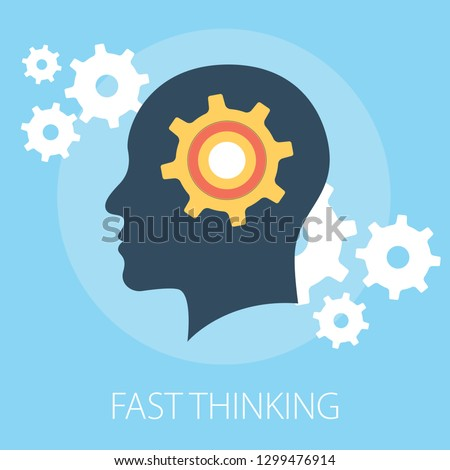Vector illustration of thinking & idea or solution concept with