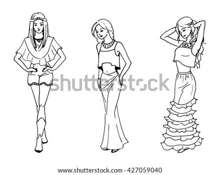 vector illustration of three
