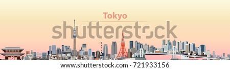 vector illustration of tokyo