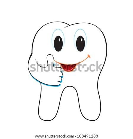 Vector illustration of tooth.