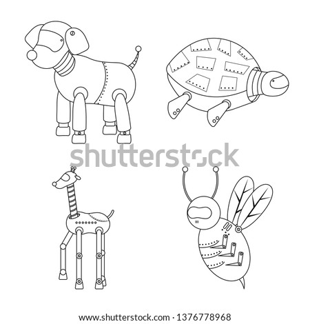 vector illustration of toy and