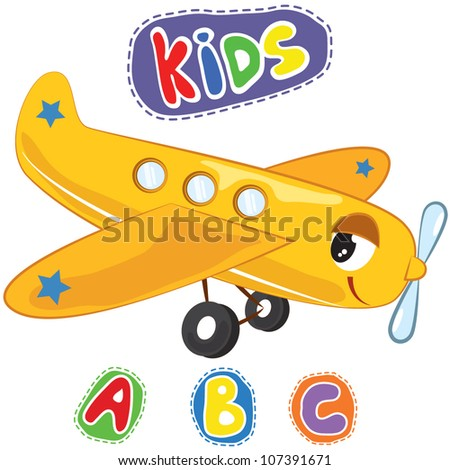 Vector illustration of transportation object for kids - Educational