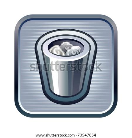 Vector illustration of trash icon