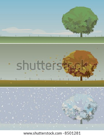 vector illustration of tree in