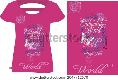 Vector illustration of trendy print for t shirt drawn with a tablet, scribble effect, hand drawn imitation, clothes decor, clothes design, fashion lettering who gonna stop me with flowers Сток-фото ©