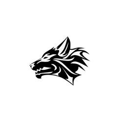 Vector  illustration of tribal wolf tattoo