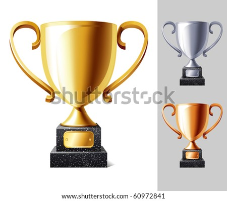vector illustration of Trophy cup