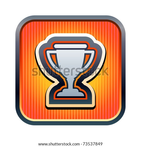Vector illustration of trophy icon