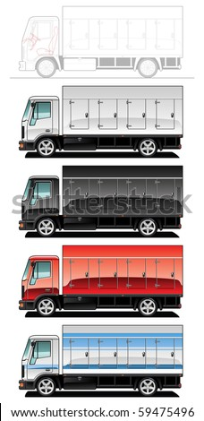 vector illustration of  truck. (Simple gradients only - no gradient mesh.)