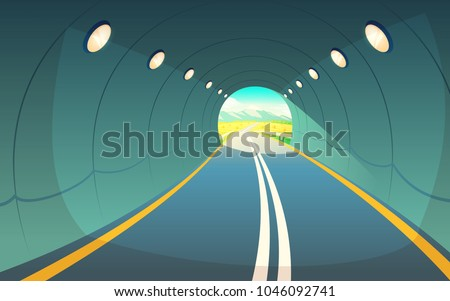 vector illustration of tunnel