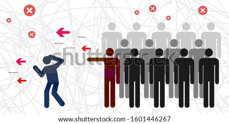 vector illustration of two groups fight for intragroup conflict problem visual  Stockfoto ©