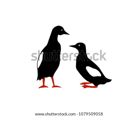 vector illustration of two hand