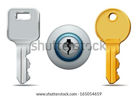 vector illustration of two keys