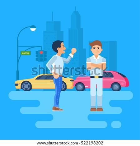vector illustration of two men